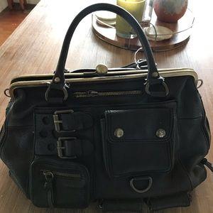 Handbags - Black leather Betsey Johnson doctor style bag